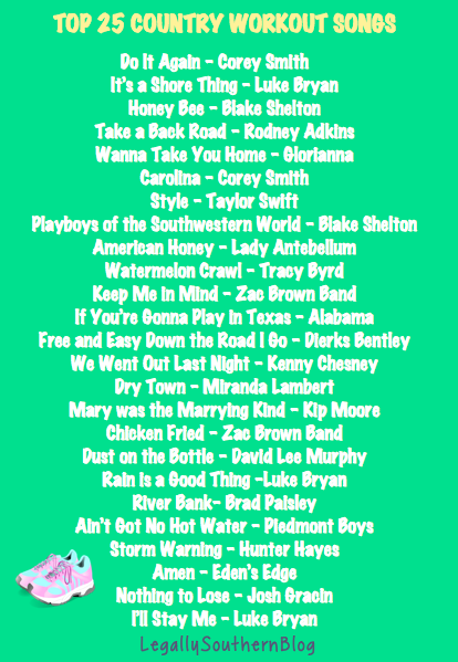 legally southern motivation monday my favorite country workout playlist. Black Bedroom Furniture Sets. Home Design Ideas