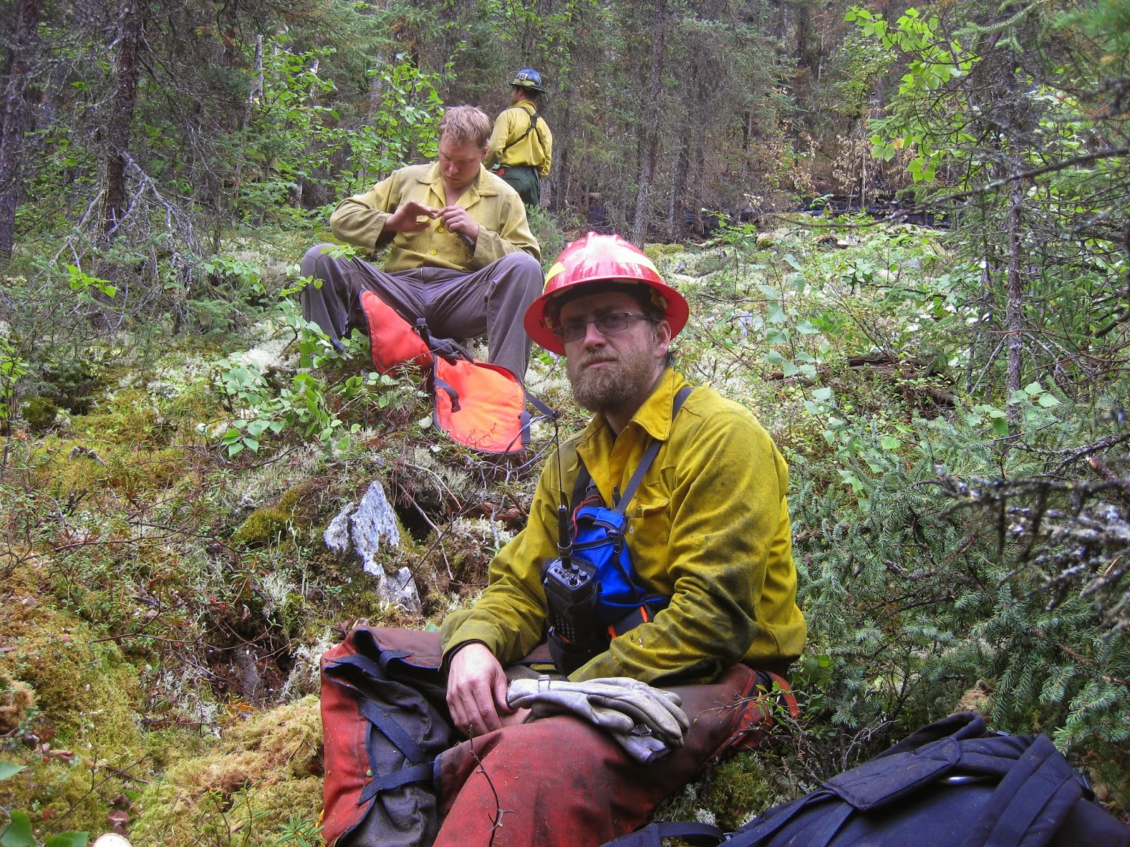 Mark Hale on the fire line