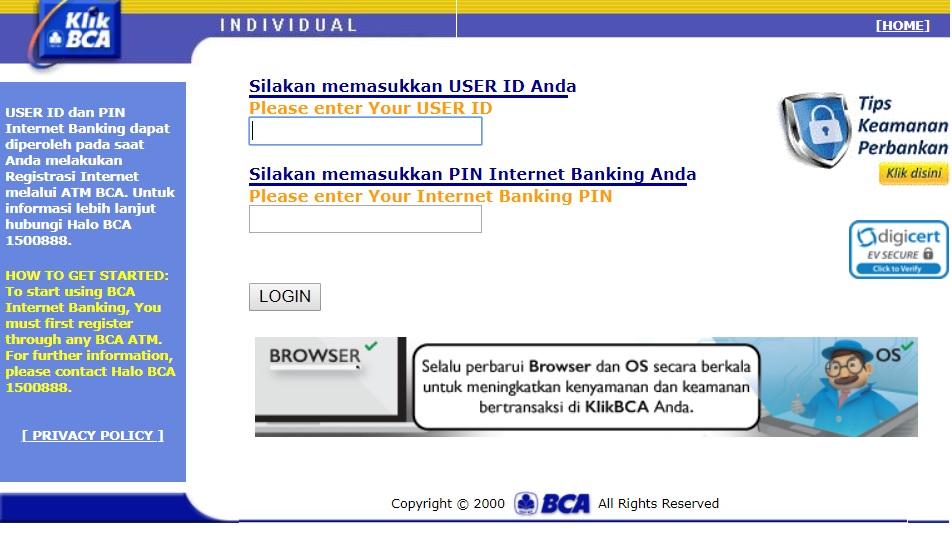 Cara Isi Saldo Grabpay Via Internet Banking BCA