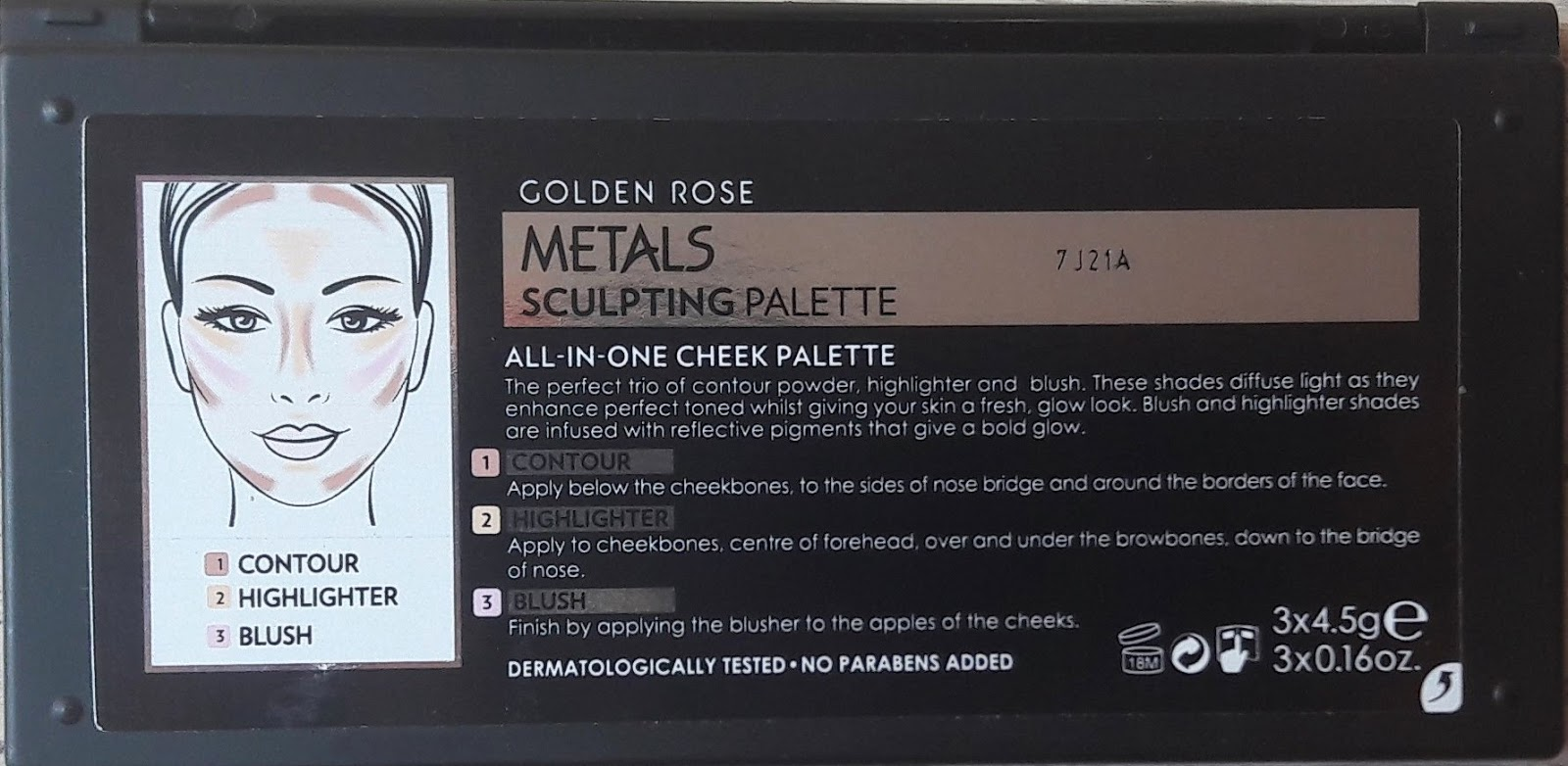Metals Sculpting Palette de Golden Rose / Cookie's Make Up