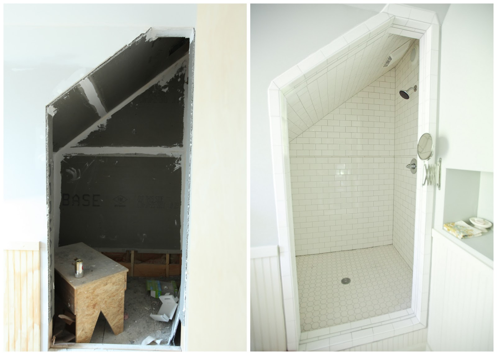 Awkwardly Shaped Bathrooms Ideas From The Nato S Attic Renovation Before And After Pictures
