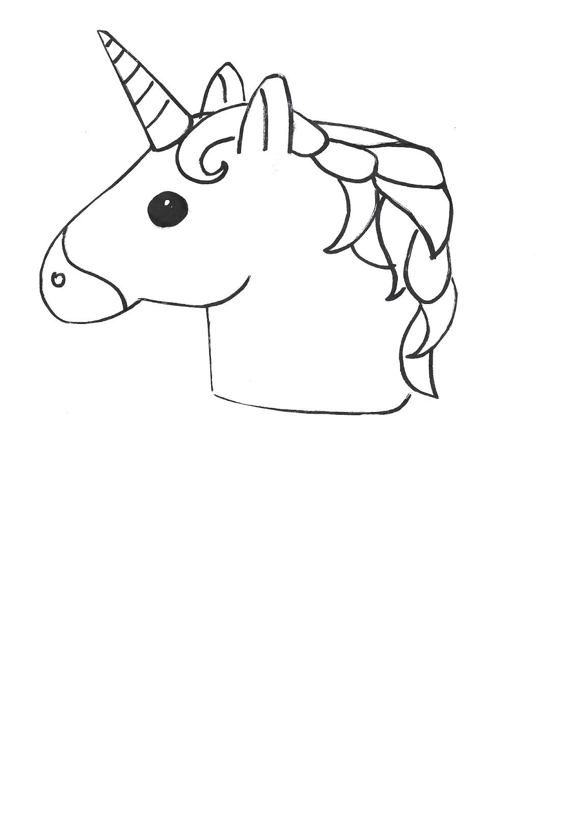 Emoji Colour Unicorn Printable