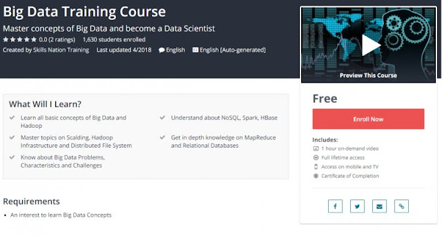 [100% Free] Big Data Training Course