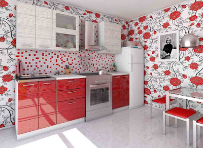 red modular kitchen ideas and cabinet designs for modern homes