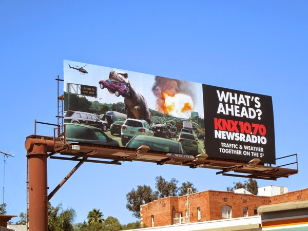 Whats ahead KNX News radio freeway dinosaur billboard