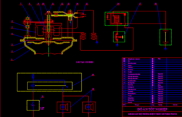 Bản vẽ mạch điện còi