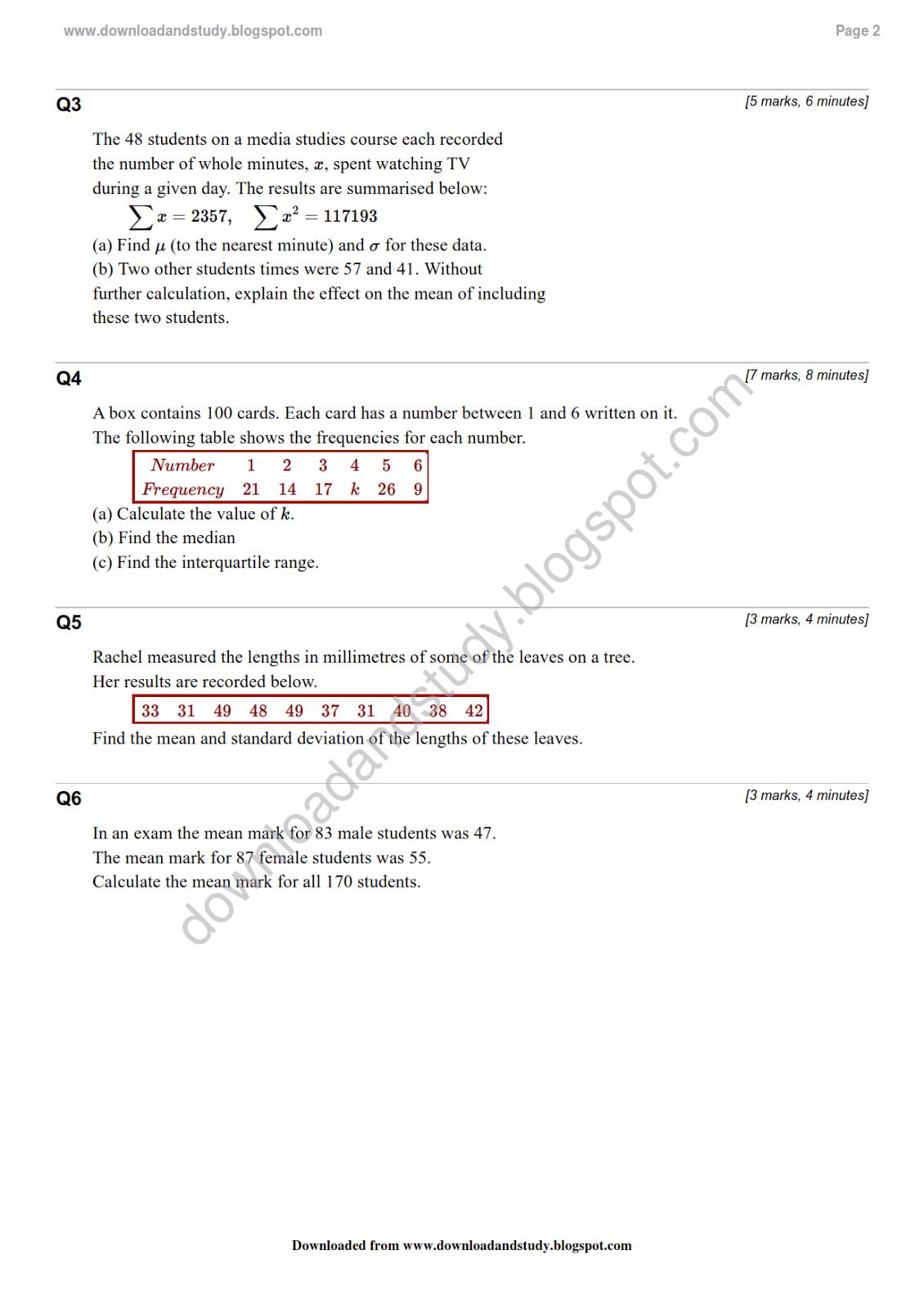 Download Amp Study As Statistics