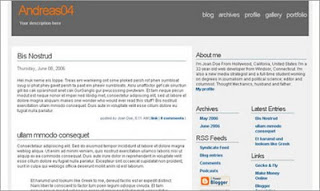 Andreas04 Blogger Template