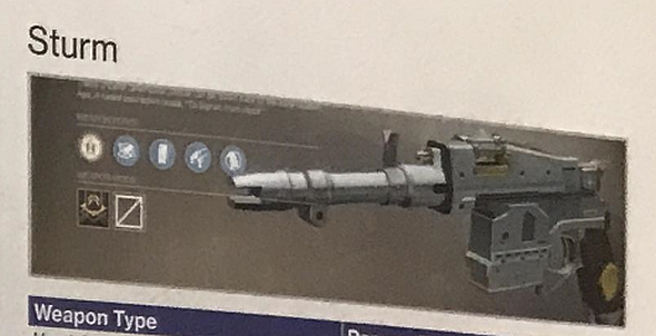 Sturm Destiny 2 Exotic Weapon