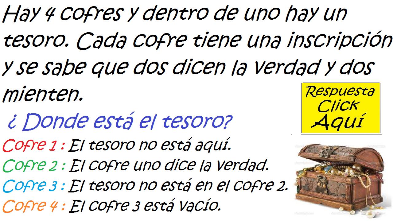 Retos Acertijos Y Algo Mas Acertijo De Logica El Tesoro Del