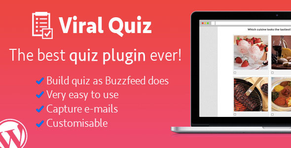 Free download latest version of Wordpress Viral Quiz V1.88 – BuzzFeed Quiz Builder