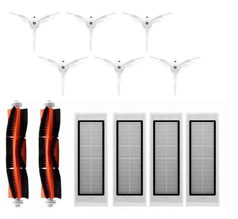 Brosses latérales pour XIAOMI Robot Aspirateur Roborock S50 Filtre HEPA
