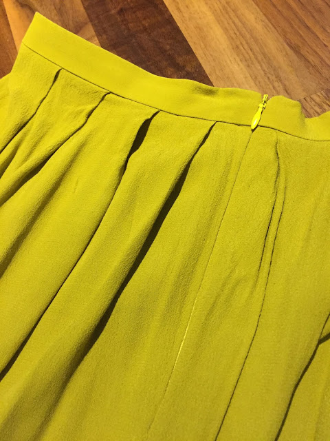 Diary of a Chain Stitcher: Mustard Rayon Midi Skirt