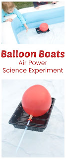 Air Powered Balloon Boats