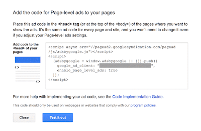 google adsense page-level ads code