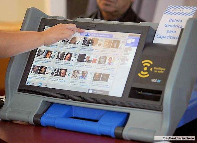 Boletim de voto eletrônico foi desqualificado na Argentina