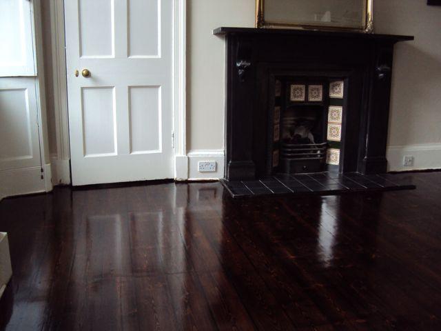 Edinburgh Floor Sanding Re Sanded Stockbridge Flat Dyed