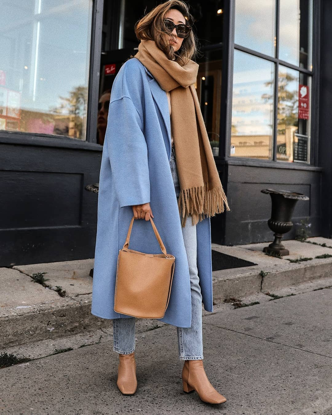 How a Neutral-Lover Can Pull Off a Colorful Coat for Fall