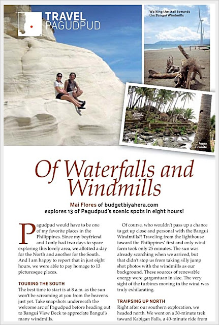 An excerpt of Mai's article in Turista Magazine (March 2013 issue)