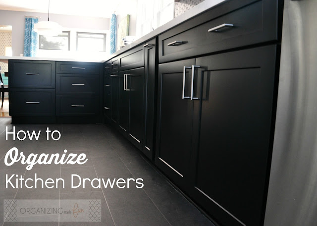 How to Organize Kitchen Drawers :: OrganizingMadeFun.com