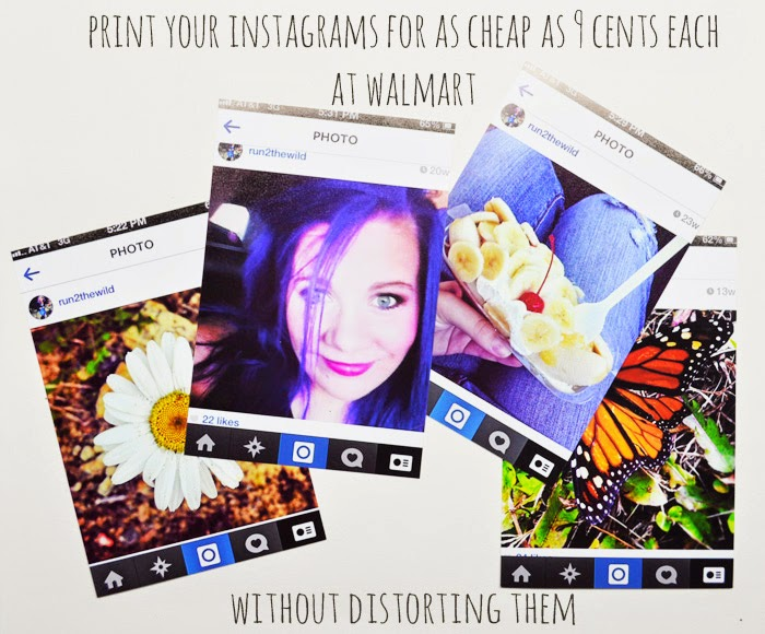 Run 2 the Wild: PRINT YOUR INSTAGRAMS FOR CHEAP AT WALMART