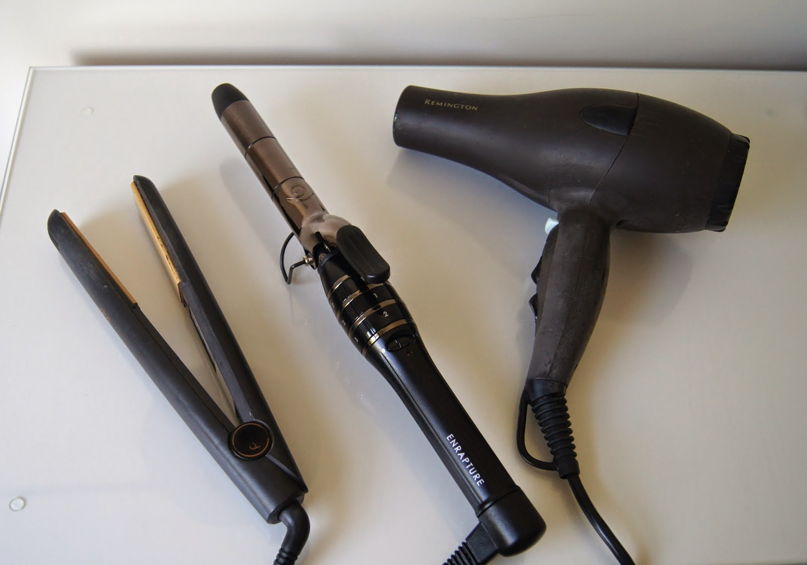 ghd hair straighteners enrapture totem styler hair curling wand and remington hairdryer reviews