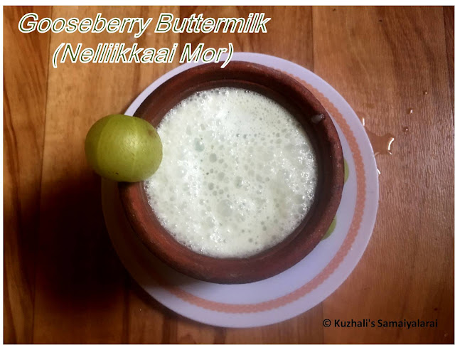 GOOSEBERRY BUTTERMILK(NELLIKKAAI MOR)- BEAT THE HEAT - SUMMER COOLANT RECIPES