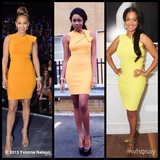 Who rocked this yellow Wikes' Sheath dress by Roland Mouret best?