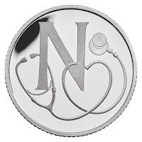 10p coin N - NHS