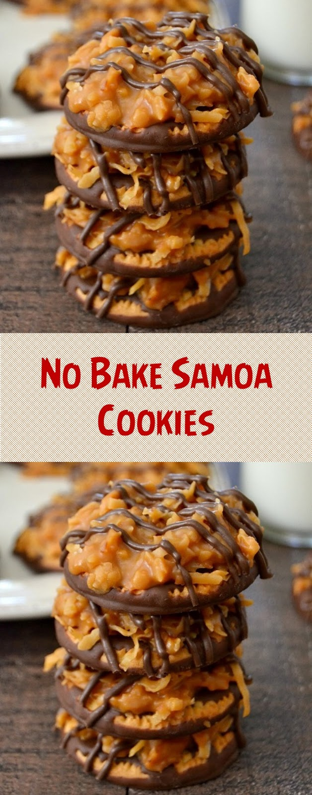 No Bake Samoa Cookies