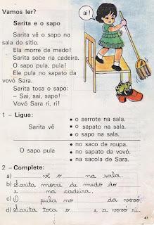 Leitura Sarita e o sapo