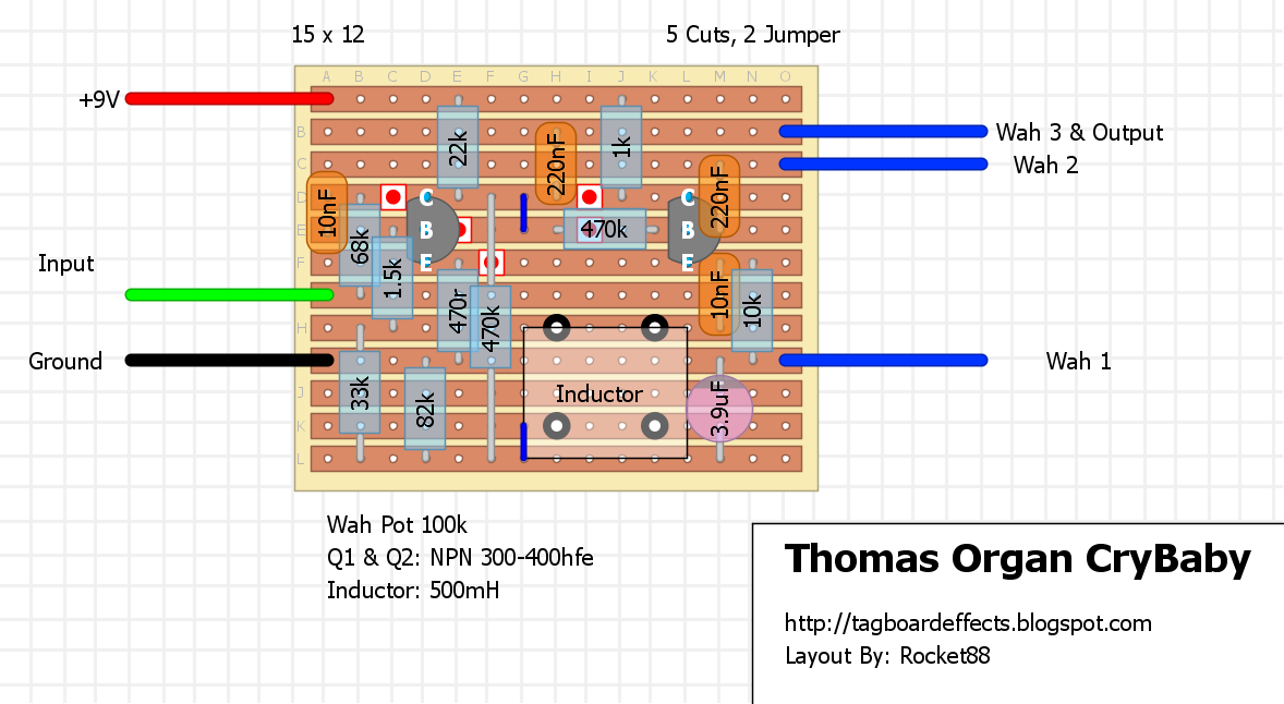 guitar fx layouts vintage wah extravaganza rh tagboardeffects blogspot com