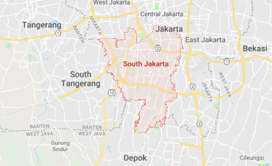 Peta Jakarta SELATAN Lengkap (Google Map)