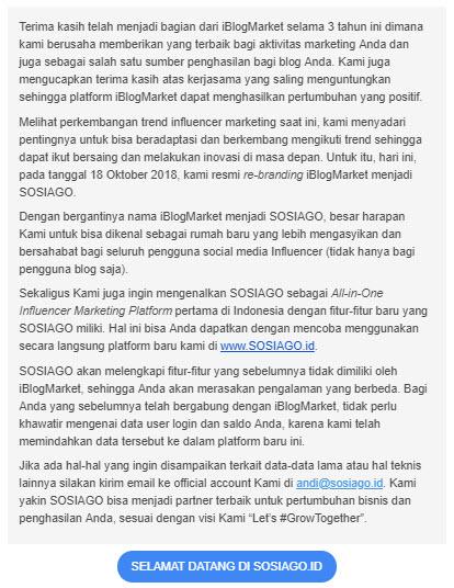 Email dari Sosiago