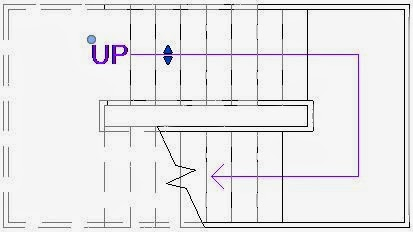 Revit 2013 Stair Path Arrows on Architectural Drawing Tools