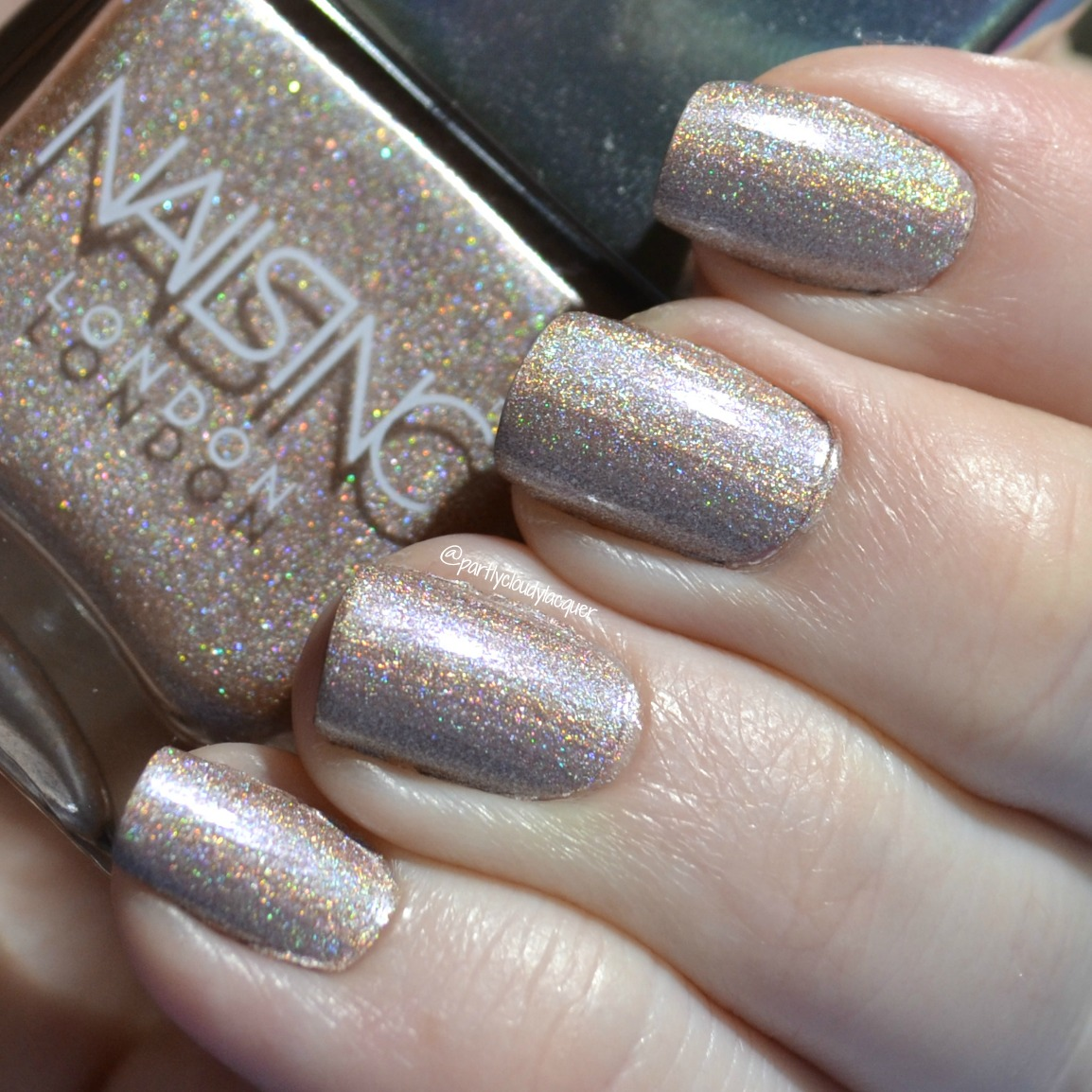 Nails Inc. Straight to My Head   Partly Cloudy With a Chance of Lacquer
