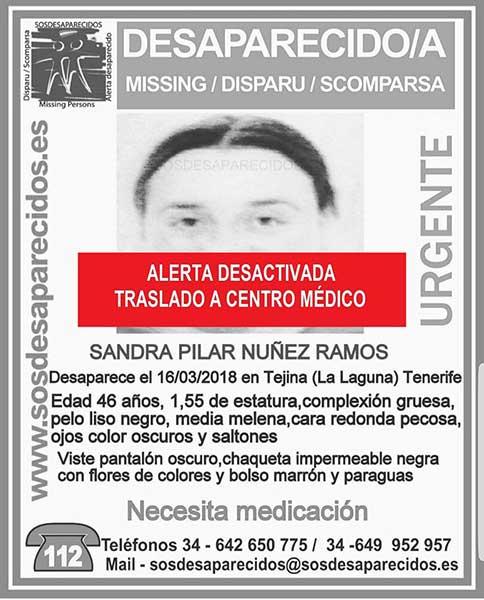Localizan a mujer  desaparecida en Tejina, trasladada a centro médico