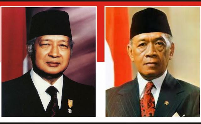 Gambar Presiden Soeharto dan Hamengkubuwana IX