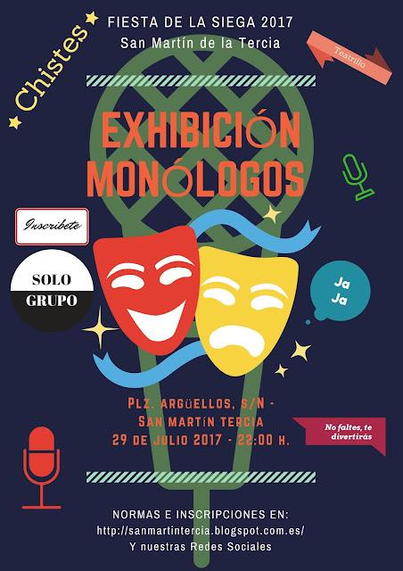 Cartel anuncio monólogos san martín de la tercia, Villamanín, Leon,