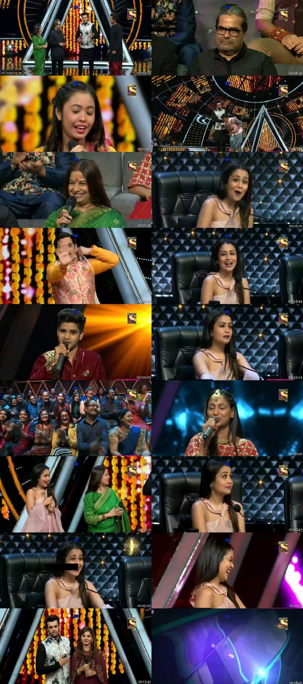 Screenshots Of Hindi Show Indian Idol 23rd September 2018 Episode 24 300MB 480P HD