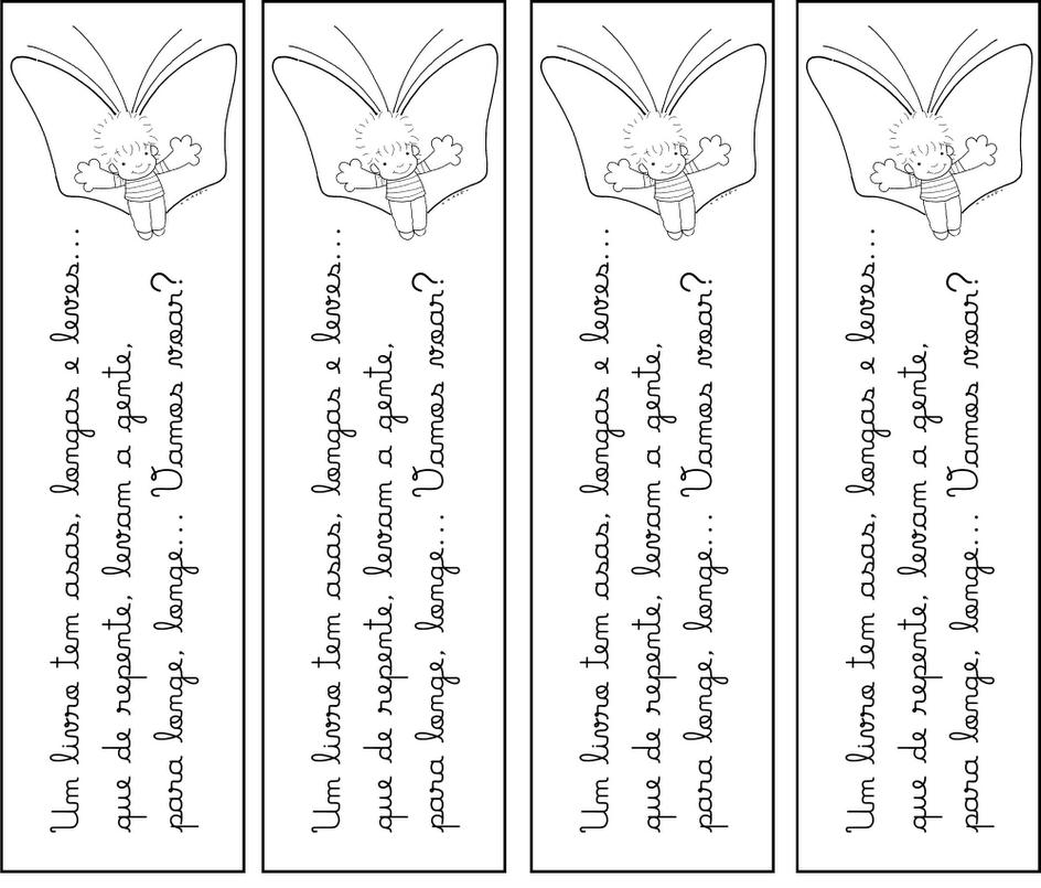 Marca Página Para Imprimir Livro Pra Gente Miúda