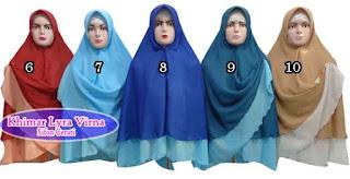 Jilbab khimar bolak balik dua warna murah edisi bulan kedua