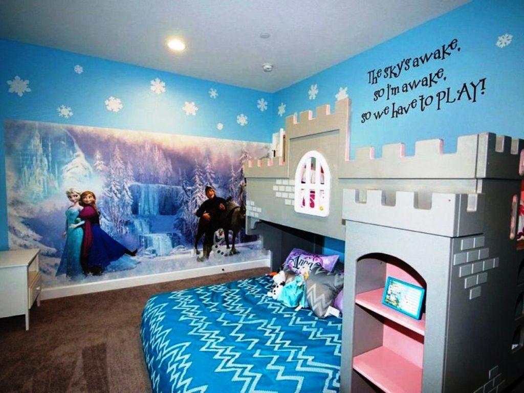 Desain Kamar Tidur Anak Perempuan Minimalis Tema Frozen