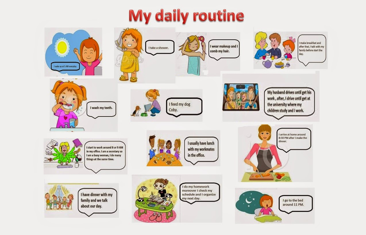 Sandra S Blog Grupo 19 Entrada 2 My Daily Routine