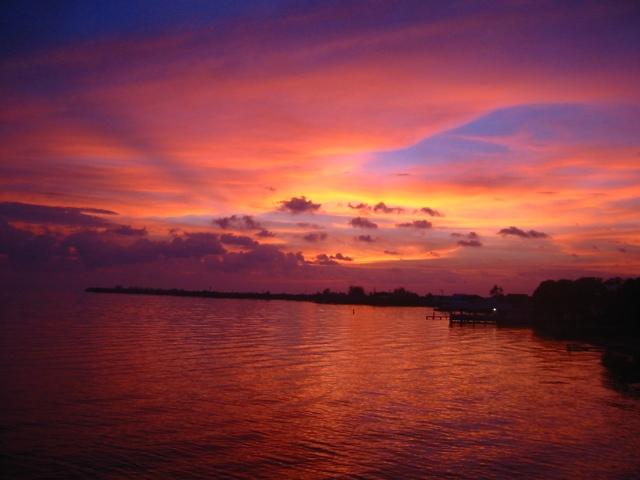 Tropical Island Beach Sunset: Tropical Island Sunset