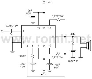 Power amplifier dengan IC STK-050 / STK-070
