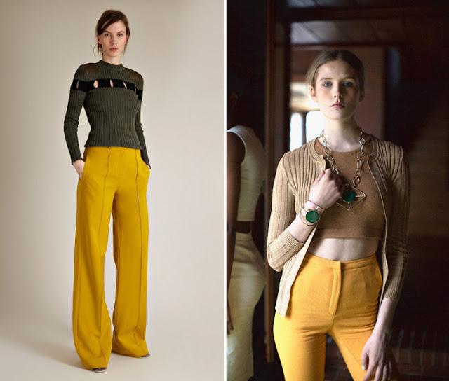 Сочетание желтого и зеленого в одежде