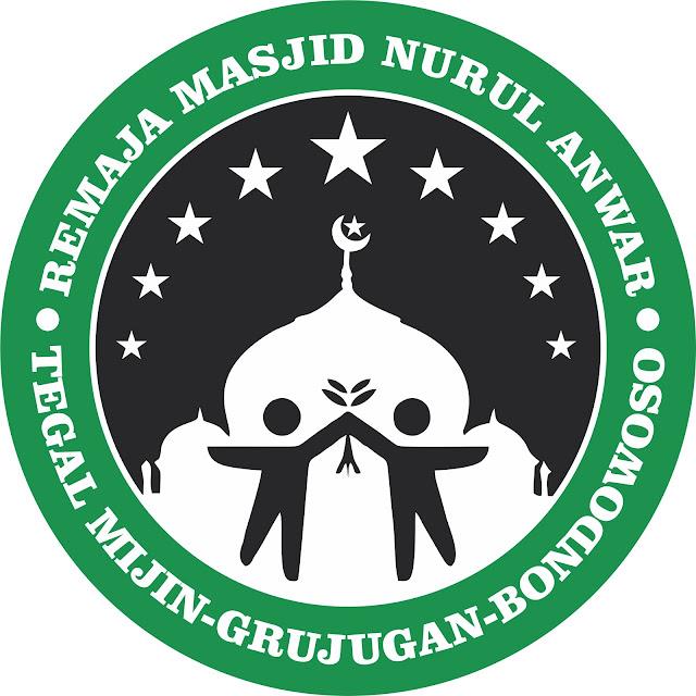 LOGO Remaja Masjid Nurul Anwar, Ds. Mijin, Kec. Grujugan, Kab. Bondowoso