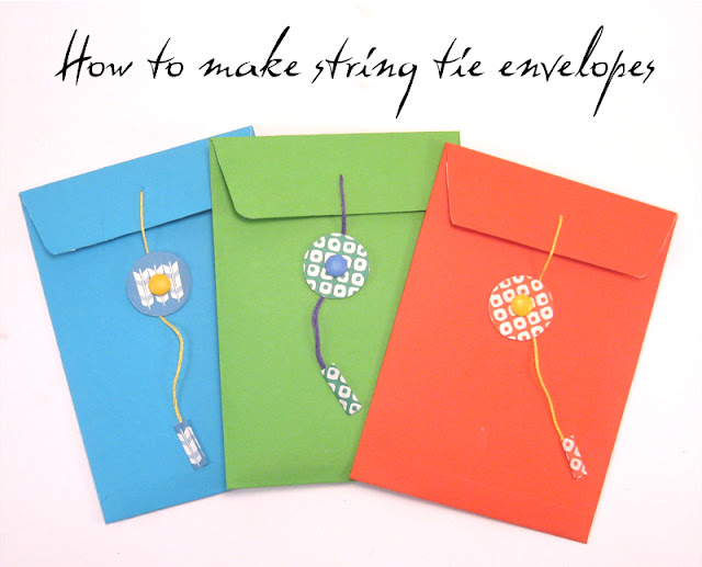 Craft Tutorial How To Make A String Tie Envelope The