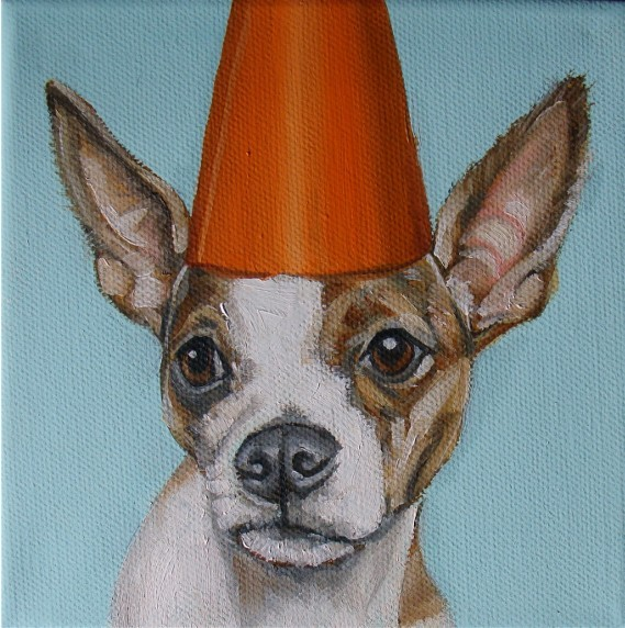 dog party oil paintings